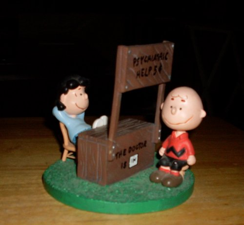 Rare! Peanuts Lucy & Charlie Brown Psychiatric Help Mood Booth by Danbury Mint -