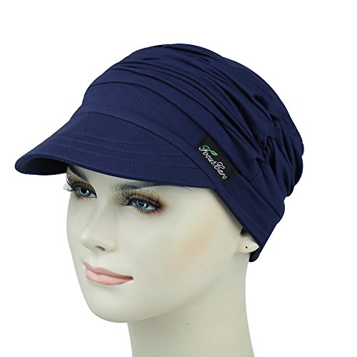 Cotton Newsboy Beanie For Cancer Women Stylish Cap Summer Picnic Headwear For Hair Loss by FocusCare (Image #1)
