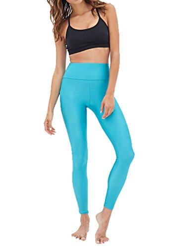 Forever21 Womens Teal Blue Performance Athletic Legging   Large