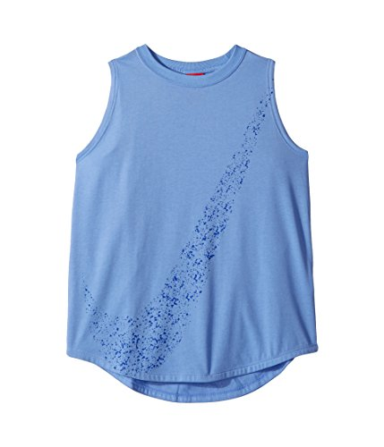 Nike Girl's Multispray Graphic Tank Top (Hyper Royal/Deeproyalblue, Medium) (Girls Tops Tank Nike)