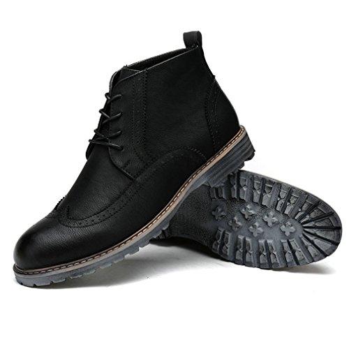 Ankle Schuhes Xianshu Martin Stiefel Lace Up Cotton schwarz Brogue Retro ...