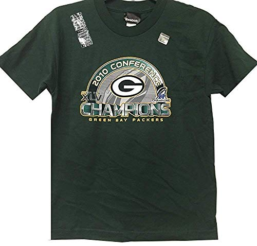 - Green Bay Packers NFL Reebok Youth 2010 NFC Conference Champions Green T-Shirt (Youth X-Large 18-20)