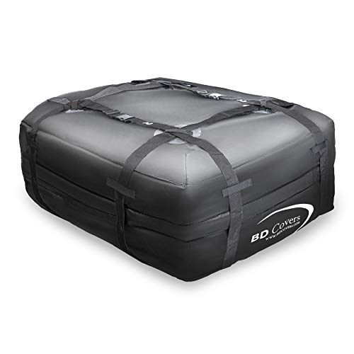 (BD Covers Cargo Roof Carrier 100% Waterproof Storage Travel Bag Easy to Install 15 Cubic Feet)