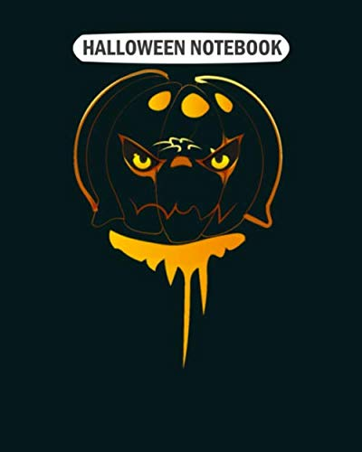 Halloween Gif Cute (Halloween Notebook: scary halloween pumpkin gifs  College Ruled - 50 sheets, 100 pages - 8 x 10)