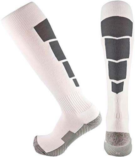 Elite Athletic Socks - Over The Calf - White/Black (Medium, White/Black)