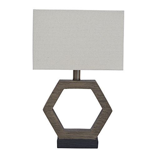 Ashley Furniture Signature Design - Marilu Poly Table Lamp - Gray & Brown