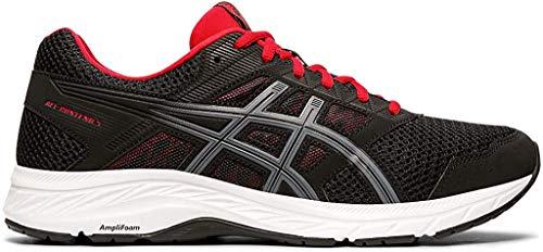 ASICS Men's Gel-Contend 5 Running Shoes, 9.5M, Black/Metropolis