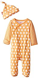 SkipHop-Baby Newborn Pop Prints Loungewear Set-Dots, Tangerine, 3 Months