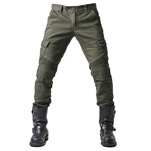 Motorrad-Jeans Herren dünne Hosen Verstärkter Schutz Futter Motorrad Hose mit 2 Paar Protect Pads Knie und Hüfte Armours…