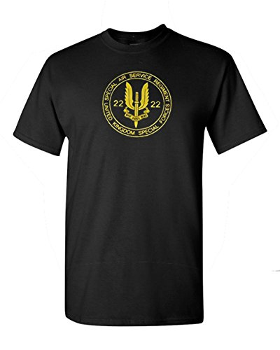 Got-tee Men's United Kingdom Army SAS Uk Special Air Service Ops T-shirt (Mens T-shirts Uk)