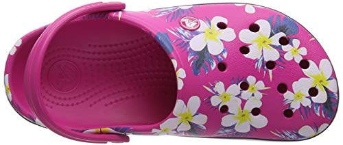 6pw Pink Rosa Seasonal Graphic Zuecos Clog floral Unisex Crocband Crocs Adulto candy PHfwqxAPn7