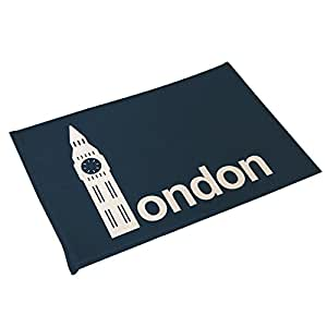 "Dearhouse Non-slip London Big Ben Home Welcome Mat Doormat Throw Rugs Home Decor Carpet 23.6""(l) X 15.7""(w)"