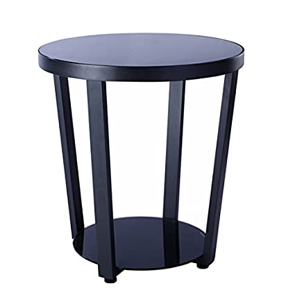 Hongsezhuozi Tavoli da caffè Tavolino in vetro di ferro Tavolino ...