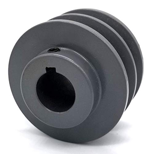 Double V-Groove Drive Pulley - 3'' Dia. - 1'' Bore - Cast Iron ()