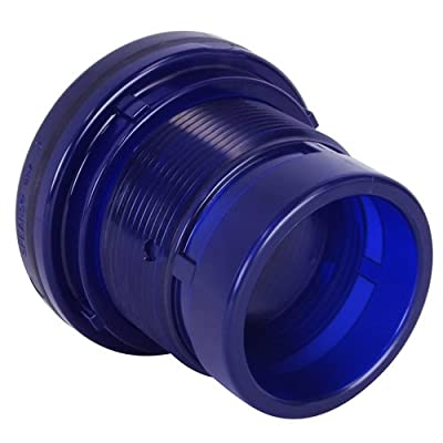 "1"" Socket Low Extractable PVC Tank Adapter with FKM Gasket - 1.94"" Hole Size (1 PVC Adapter)"