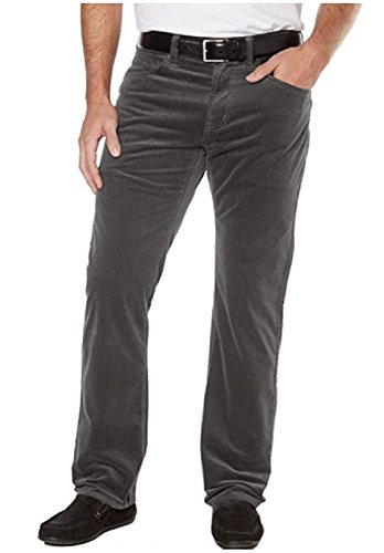 5 Pocket Corduroy Pants (Kirkland Signature Men's 5-Pocket Corduroy Pant, Nut (Gunmetal Grey, 30X30))