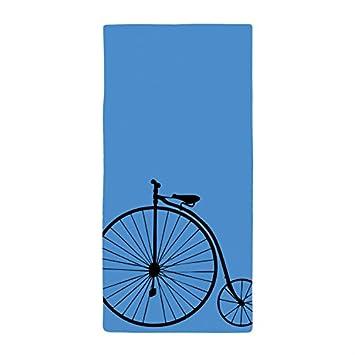 jesspad toalla de baño negro bicicleta con azul toallas de playa piscina: Amazon.es: Hogar