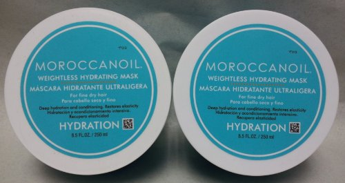 Moroccanoil Weightless Hydrating Mask 8.5 Oz. Set of 2 (Moroccanoil Mask Hydrating)