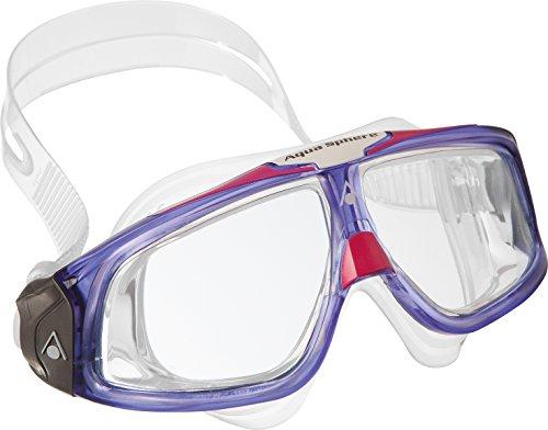 Aqua Sphere Seal Swim Mask, Clear Lens/Violet/Pink - Man Goggles Iron