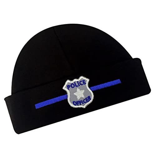 wholesale Funny Girl Designs Embroidered Baby Boy Hat Police Officer Keepsake Infant Cotton Hat for sale