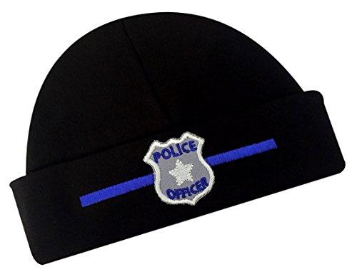 Police Design - Funny Girl Designs Embroidered Baby Boy Hat Police Officer Keepsake Infant Cotton Hat