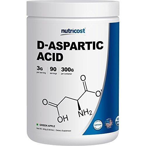 Nutricost D-Aspartic Acid (DAA) Powder 300G (Green Apple)...