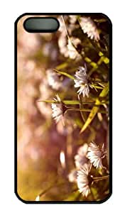 iPhone 5S Case - Customized Unique Design Meadow Flowers Macro New Fashion PC Black Hard