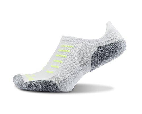 (Thorlos Experia Unisex XCTU Multi-Sport Thin Padded No Show Sock, White, Xlarge)