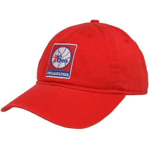 NBA adidas Philadelphia 76ers Ladies Basic Logo Slouch Adjustable Hat - Red