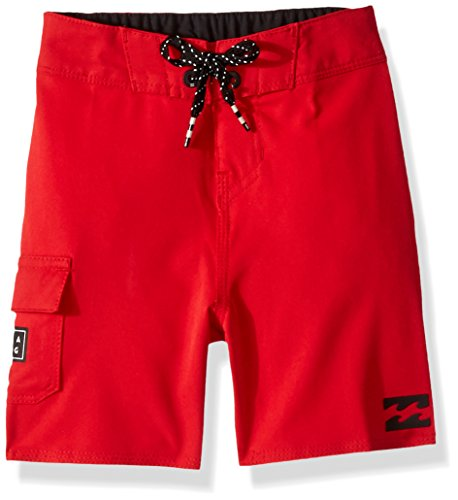 Billabong Little Boys' Classic Solid Boardshort, red, 7XL ()