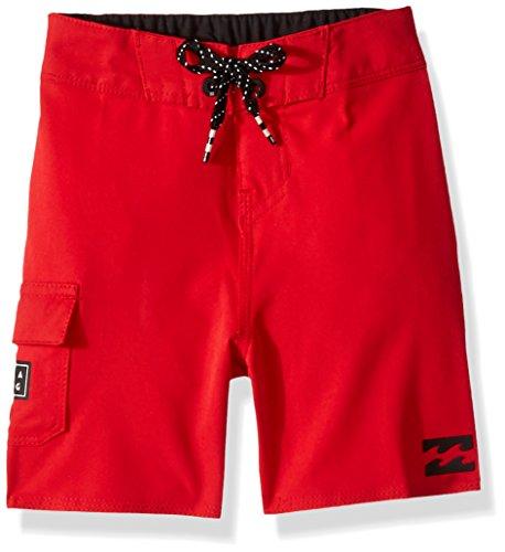Billabong Little Boys' Classic Solid Boardshort, red, 3T