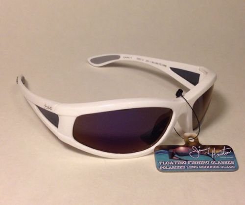 Foster grant Jimmy Houston Fishing Sunglasses Polarized 100% UVA/UVB Protection White Floats in Water NEW! (Polarized Foster Grant Sunglasses)