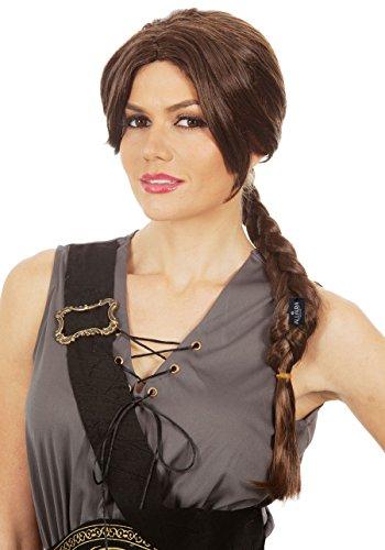 Long Brown Braid Wig - Tomb Raider Lara Croft Costume, Hunger Games Katniss -