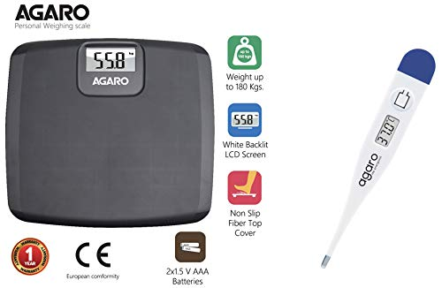 Agaro Electronic Personal Scale_WS501  amp; AG Digital Thermometer DT 555