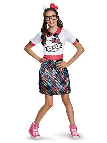 Nerd Costumes For Tweens (Hello Kitty Nerd Tween Costume, X-Large)