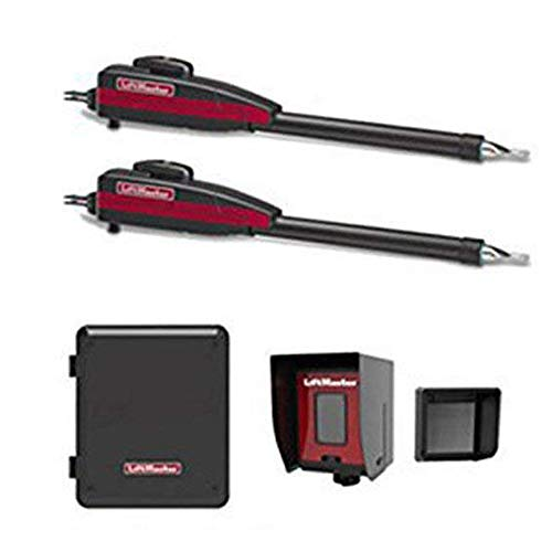 Liftmaster LA400PKGU Dual Swing Gate Opener Kit - Included Liftmaster 828LM Internet Gateway & Free RNT-230SADK Weatherproof Keypad Prox Reader 1000+ Users ()
