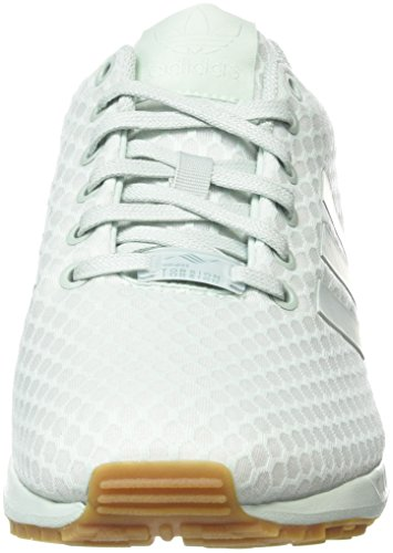 adidas Herren ZX Flux Low-Top Weiß (Vapour Green/Vapour Green/Gum)