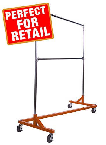 Commercial Garment Rack  - Rolling Clothes Rack, Z Rack With