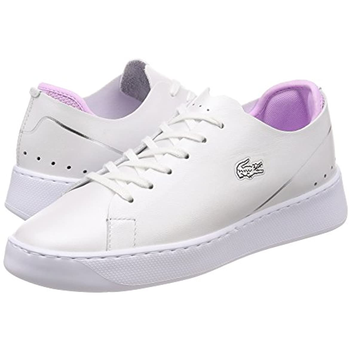 Lacoste Donna Bianco Light Porpora Eyyla 118 1 Sneaker