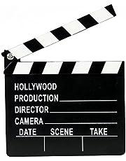 SUPVOX Wooden Clapper Board Film Movie Clapperboard Director Action Sign Prop