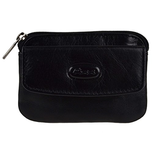 Black Coin Hansson Quality Top Small LEATHER Purse Wallet Pouch by Mens Black Ring Key IzwFqOxn
