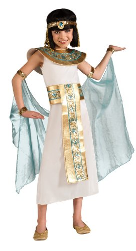 Egyptian Costume For Girls (Cleopatra Costume, Blue, Medium)