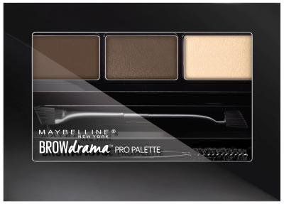 - Maybelline New York Brow Drama Pro Palette, Deep Brown 0.1 oz (Pack of 2)