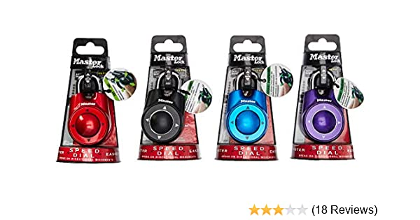 Master Lock 1500iD Speed Dial Combination Lock, Assorted Colors, 4-Pack - - Amazon.com