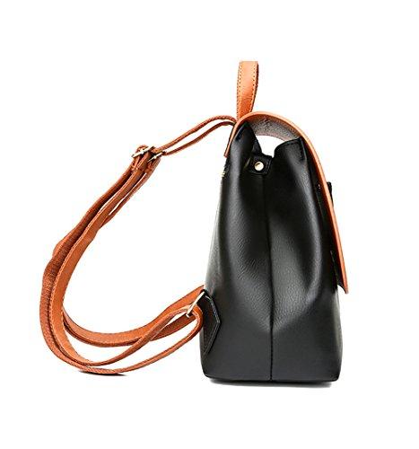 amp; Black pour M dos main porté Uniuooi femme à au Sac Brown wqgp1vp