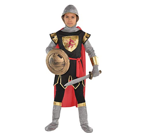 (AMSCAN Brave Crusader Halloween Costume for Boys, Large, with Included)