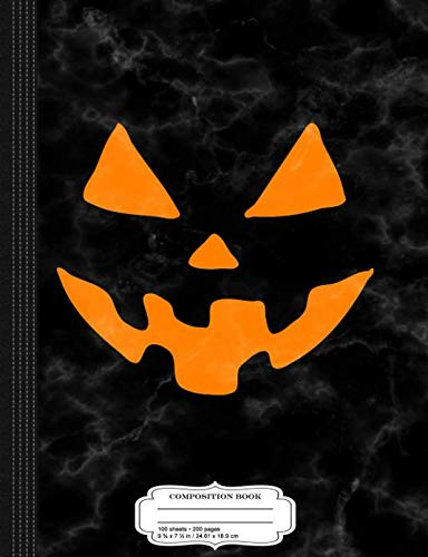 Jack-O-Lantern Pumpkin Halloween Costume Composition Notebook: College Ruled 9¾ x 7½ 100 Sheets 200 Pages For -