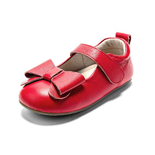 Itomoro Toddler Ballet Flats Mary Jane Dress Shoes Soft Sole RED 6