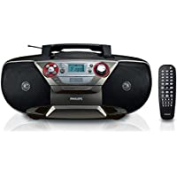 Philips AZ5741 DVD Soundmachine - Boombox with Region Free DVD Player, CD, FM Stereo, MP3/WMA Music, (S)VCD, Picture CD and USB Direct (110V-240V)