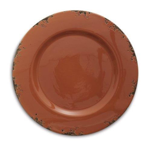 Arte Italica Scavo Charger Plate, Rust (Arte Italica Dinnerware)